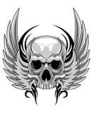 Schädel mit Flügel Lizenzfreie Stockfotos