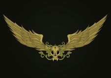 Schädel mit Flügeln lizenzfreie abbildung
