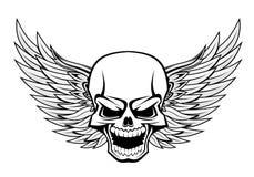 Schädel mit Flügeln Lizenzfreie Stockfotos
