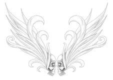 Schädel mit Flügeln stock abbildung
