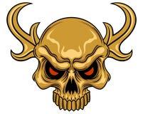 Schädel mit Horn Stockfotos