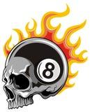 Schädel mit Zahl und Flamme Lizenzfreie Stockbilder