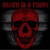 Schädel-Todesdruck-Mann-T-Shirt Grafik Lizenzfreie Abbildung