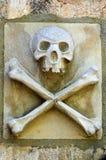 Schädel u. gekreuzte Knochen lizenzfreie stockbilder