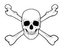 Schädel und gekreuzte Knochen Lizenzfreies Stockbild