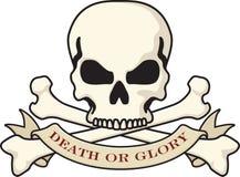 Schädel und gekreuzte Knochen Lizenzfreie Stockfotos