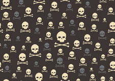 Schädel und Knochen Stockfotos