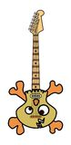 Schädel und Knochen-elektrische Gitarre Stockbilder