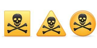 Schädel und Knochen-Tasten Lizenzfreie Stockfotos