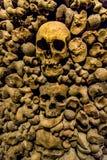 Schädel und Knochen vom Karner stockbilder