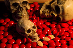 Schädel und Medizin Stockbild