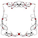 Schädel und Rosen Stockbilder