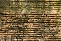 Schädigende alte Backsteinmauer Lizenzfreie Stockbilder