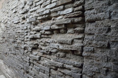 Schädigende alte Backsteinmauern, Hintergrund Lizenzfreies Stockbild
