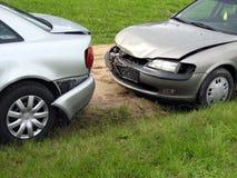 Schädigende Autos Stockfoto