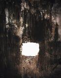 Schädigende Backsteinmauer stockbilder