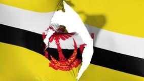 Schädigende Brunei-Flagge stock abbildung