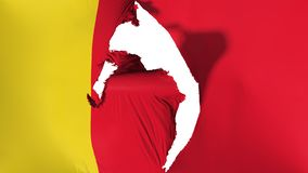 Schädigende Moroni-Flagge stock abbildung
