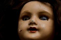 Schädigende Weinlese-Puppe Stockbild