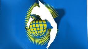 Schädigender Commonwealth der Nationsflagge vektor abbildung