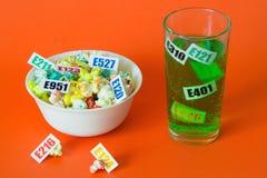 Schädliche Lebensmittelzusatzstoffe lizenzfreie stockfotografie