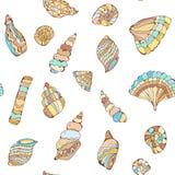 Schält colections seamles Muster in den Pastellfarben, grafische Illustration Stockfotografie