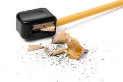 Schärfen des Bleistifts Stockfotos