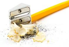 Schärfen des Bleistifts Lizenzfreie Stockfotos