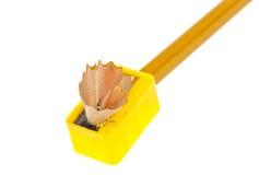 Schärfen eines Bleistifts Lizenzfreies Stockbild