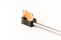 Schärfen eines Bleistifts Lizenzfreies Stockfoto