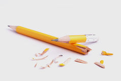 Schärfen von Bleistiftidee Stockfotos