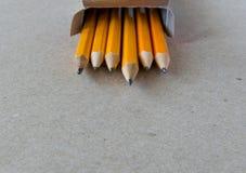 Schärfster Bleistift im Kasten Stockbilder