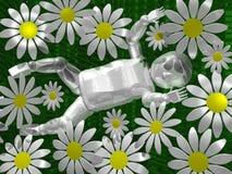 Schätzchen 3D in den Blumen Lizenzfreie Stockfotografie