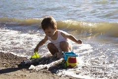 Schätzchen auf dem Strand Lizenzfreie Stockfotografie