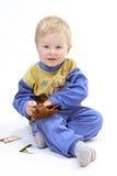 Schätzchen auf dem weißen Hintergrund Stockfoto