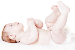 Schätzchen auf einem weißen Hintergrund Stockfoto