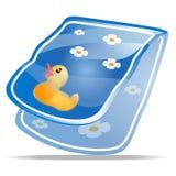 Schätzchen-Bad-Tuch stock abbildung