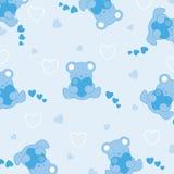 Schätzchen-Blau-Leuchte Bokeh Hintergrund stock abbildung