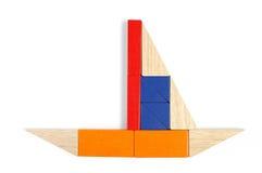 Schätzchen blockt Abbildung - Yacht Lizenzfreies Stockbild