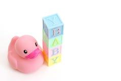 Schätzchen-Gummi-Ente stockfotografie