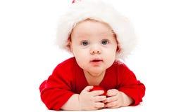 Schätzchen im Weihnachtshut Lizenzfreie Stockfotografie
