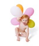 Schätzchen mit Ballon Lizenzfreie Stockfotos