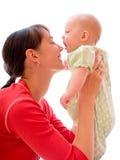 Schätzchen mit Mamma lizenzfreie stockfotografie
