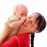 Schätzchen mit Mamma stockfotografie