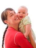 Schätzchen mit Mamma lizenzfreie stockfotos