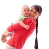Schätzchen mit Mamma lizenzfreies stockbild
