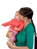 Schätzchen mit Mamma stockfoto