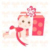 Schätzchen mit rosafarbenem Farbband Lizenzfreie Stockfotos