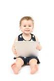 Schätzchen mit Tablette Lizenzfreies Stockfoto