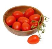 Schätzchen-Rom-Tomaten Lizenzfreies Stockfoto